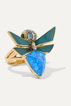 Stephen Webster Jitterbug 18-karat Gold Multi-stone Ring - 7