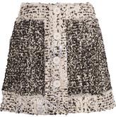 Christopher Kane Metallic Bouclé-tweed Mini Skirt - Black