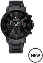 Tommy Hilfiger Tommy Hilfiger Black Chronograph Dial Black IP Stainless Steel Bracelet Mens Watch