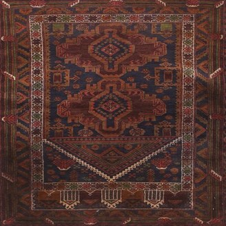 Bungalow Rose Murial Southwestern Brown Area Rug Rug Size: Square 7'