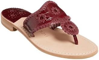 Jack Rogers Croc Embossed Sandal