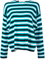 Ports 1961 raw edge striped top - women - Cotton/Polyester/Viscose - S