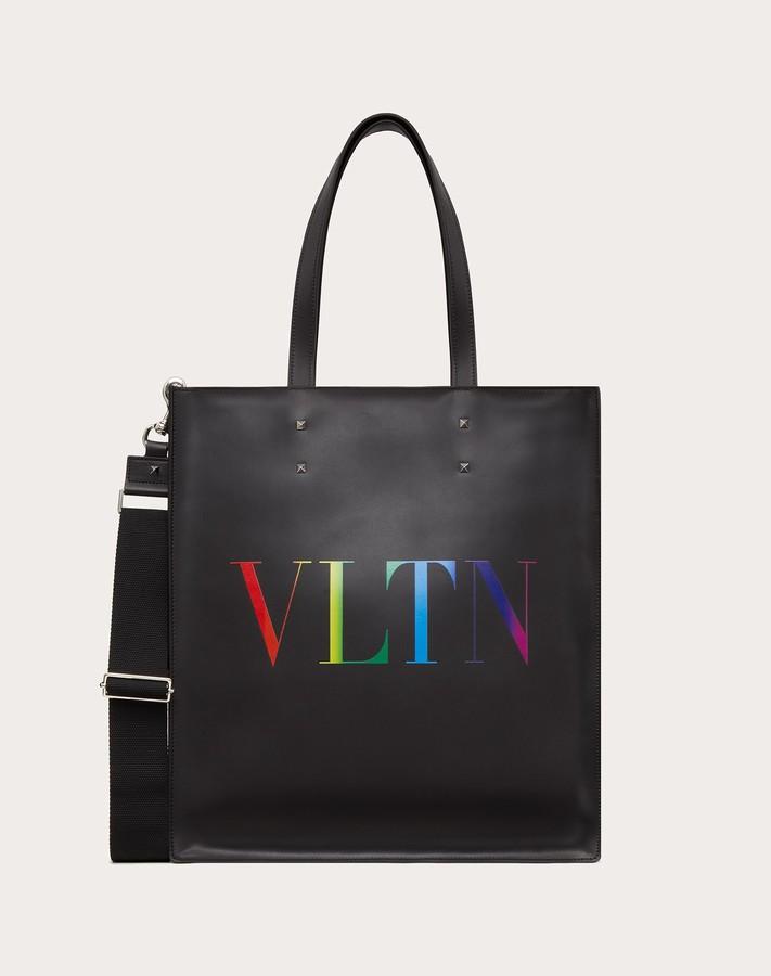 Thumbnail for your product : Valentino Garavani Uomo Vltn Leather Tote Bag Man Black 100% Pelle Bovina - Bos Taurus OneSize