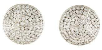 Cartier 18K Pavé Diamond Disc Earrings