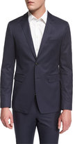 Burberry Modern-Fit Two-Button Jacket, Bright Steel Blue