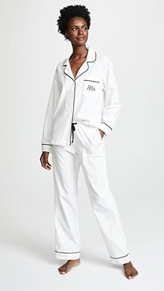 Bedhead Pajamas Embroidered Mrs. Classic Pajama Set