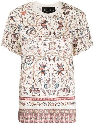 Nicole Miller Jakarta print silk oversized T-shirt