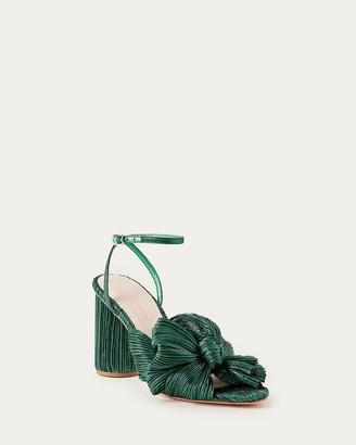 Loeffler Randall Camellia Bow Sandal Emerald