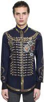 Dolce & Gabbana Military Printed Cotton Poplin Shirt
