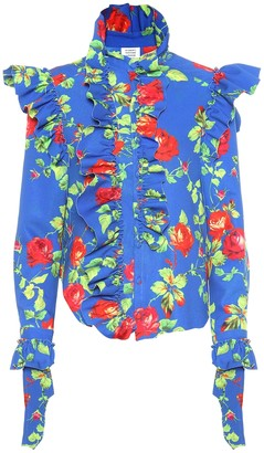 Vetements Floral crApe shirt