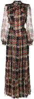 Blumarine woven print maxi dress