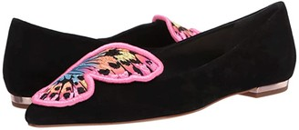 Sophia Webster Butterfly Embroidery Flat (Black/Multi) Women's Shoes