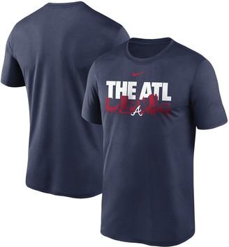 Nike Men's Navy Atlanta Braves Local Skyline Legend Performance T-Shirt