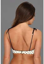 Juicy Couture Itsey Bitsy Polka Dot Underwire Shoulder Tie Bra Top