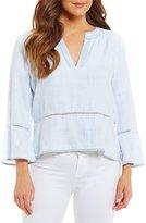 Chelsea & Violet Long Sleeve Peplum Shirt