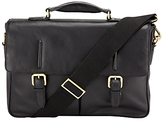 John Lewis Salzburg Leather Mini Briefcase, Black