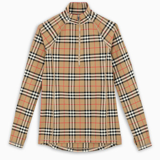 Burberry Vintage Check stretch jersey top