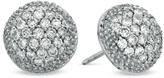 Zales 1-1/4 CT. T.W. Diamond Puffed Circle Stud Earrings in 18K White Gold (H/SI1)