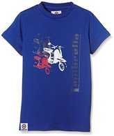 Lambretta Boy's Scooter Plain Crew Neck Short Sleeve T-Shirt