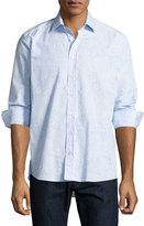 Etro Paisley Floral Sport Shirt, Blue