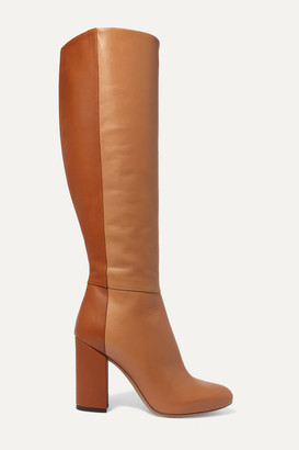 Tabitha Simmons Sophie Two-tone Leather Knee Boots - Tan