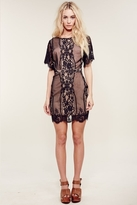 For Love & Lemons San Marcos Mini Dress in Black