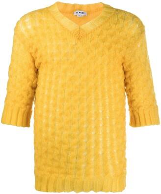 Sunnei Knitted Short Sleeve Jumper