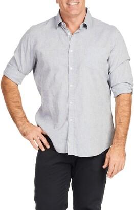 Johnny Bigg Serge Melange Button-Up Linen & Cotton Shirt