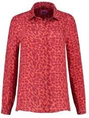 Pom Amsterdam - Red and Orange Leopard Print Cupro Hidden Gems Shirt - Red and Orange   1