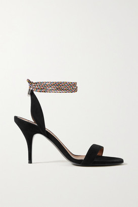 Tabitha Simmons Ace Suede Sandals - Black