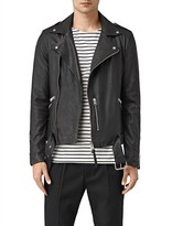 AllSaints Kahawa Slim Fit Leather Biker Jacket