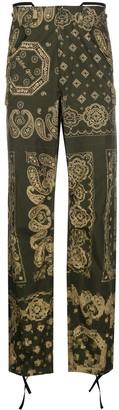 Golden Goose Bandana-Print Straight Trousers