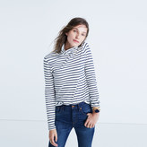 Madewell Whisper Cotton Turtleneck in Cordova Stripe