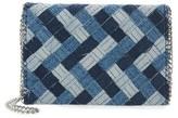 Chelsea28 Woven Denim Clutch - Blue