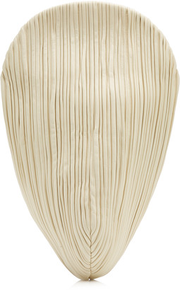 Neous Pluto Pleated Leather Swirl Clutch