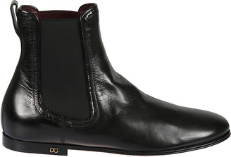 Dolce & Gabbana Elasticated Side Ankle Boots