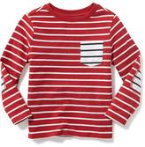 Old Navy Striped Pocket Tee for Toddler Boys