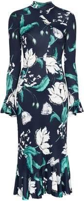 Erdem Alta floral print midi dress