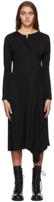 Yohji Yamamoto Black Side Corset Dress
