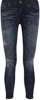 Simon Miller Blaine paneled low-rise skinny jeans