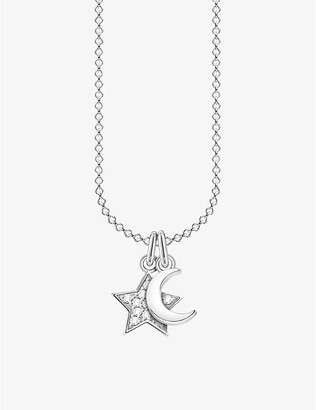 Thomas Sabo Magic Stars sterling silver cubic zirconia moon and star necklace