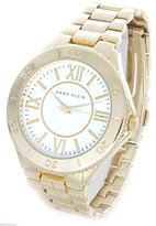 Anne Klein Women's Ak/1762 White Dial Gold-tone Bracelet Watch