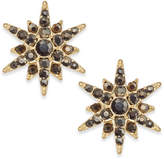 INC International Concepts Gold-Tone Pave Starburst Earrings, Created for Macy's