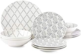 Lenox Textured Neutrals Stoneware 12-Piece Dinnerware Set