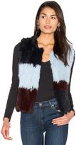 525 America Patchwork Rabbit Fur Vest