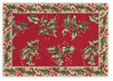 Hand Hooked 2-Foot x 3-Foot Holly Rug in Red
