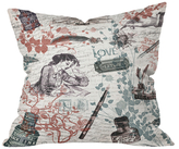 DENY Designs Love Letters Throw Pillow