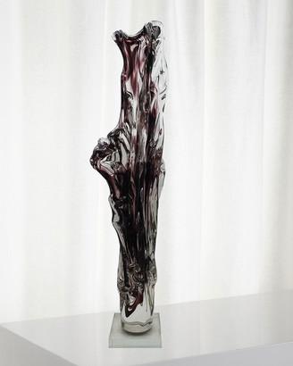 Dale Tiffany Purple Art Glass Sculpture