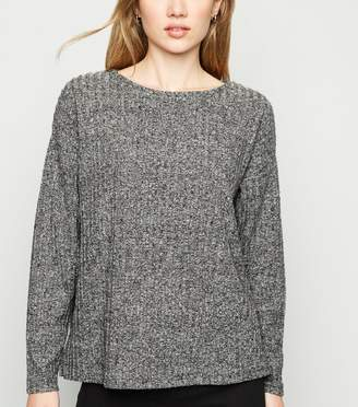 New Look Brushed Ribbed Knit Crew Neck Top