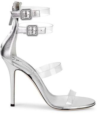 Giuseppe Zanotti Transparent Strappy Leather Stiletto Sandals